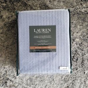 Ralph Lauren Bedding - Ralph Lauren Classic Cotton Full/queen blanket